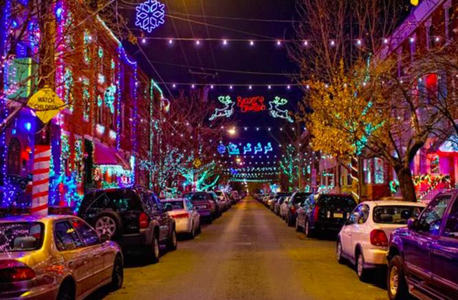 Fitness Challenge: Walk around a neighborhood to see holiday lights